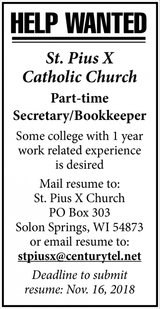 Secretary/Bookkeeper