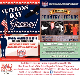 Veterans Day/Tribute to Country Legends