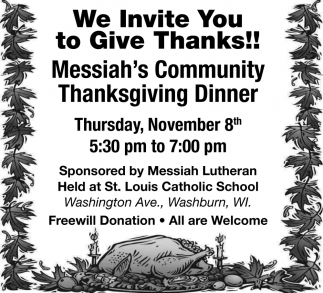 We Invite You to Give Thanks