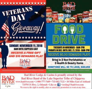 Veterans Day/Food Drive