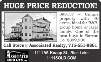 HUGE PRICE REDUCTION!