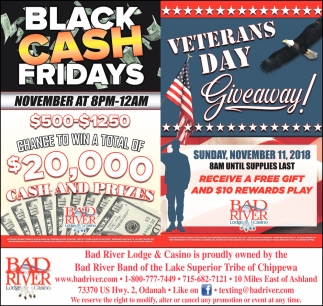 Veterans Day/Black Cash Fridays