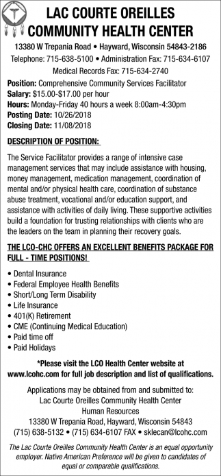 Comprehensive Community Services Facilitator
