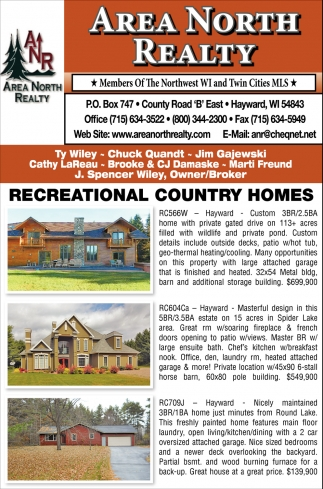 Reacreational Country Homes