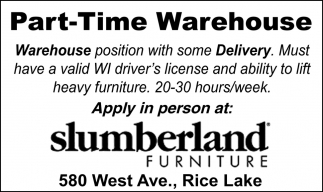 Part-Time Warehouse