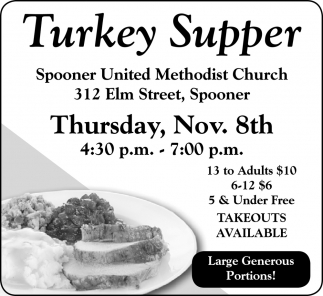Turkey Supper