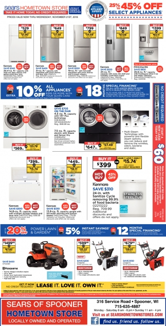 25% to 45% Off Select Appliances