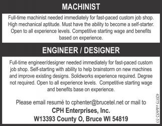 MACHINIST / ENGINEER