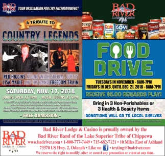 A Tribute to Country Legends/Food Drive