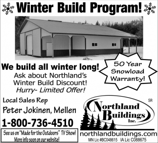 Winter Build Program!