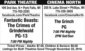 The Grinch, Fantastic Beasts: The Crimes of Grindelwald