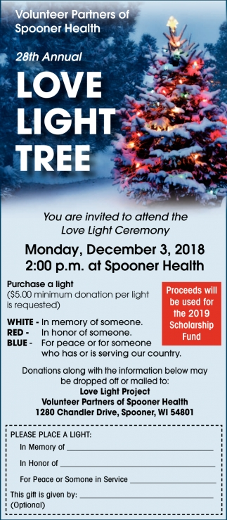 28th Annual Love Light Tree