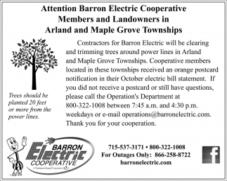 Attention Barron Electric Cooperative Members