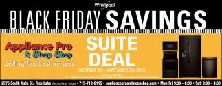 Whirpool Black Friday Savings