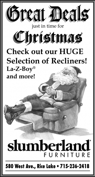 Great Deals Just In Time For Christmas, Slumberland Furniture, Wausau, WI