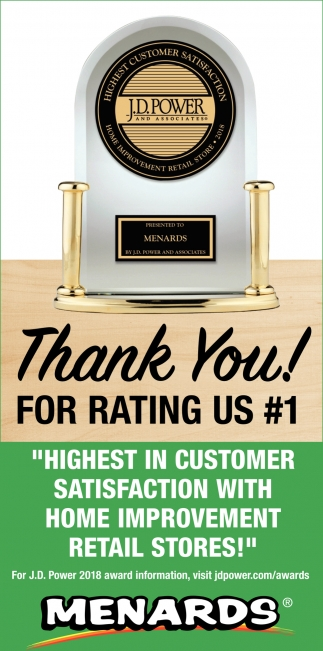 Thank You! For rRating Us #1