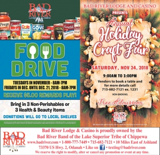 Food Drive/Holiday Craft Fair