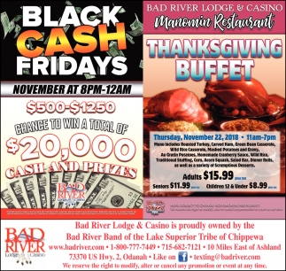 Black Cash Fridays/Thanksgiving Buffet