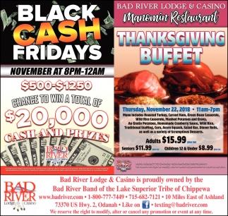 Black Cash Fridays/Thanksgiving Buffet