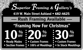 Rush Framing Available