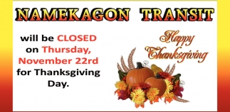 Namekagon Transit Will be Closed