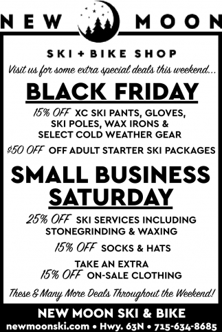 Black Fiday/Small Business Saturday