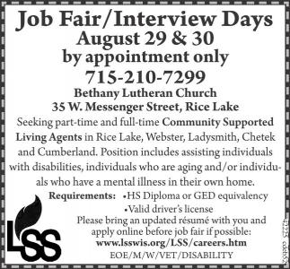 Job Fair / Interview Days