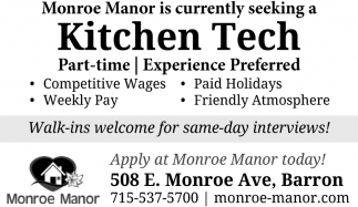 Seeking Kitchen Tech