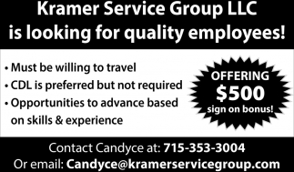 Looking For Quality Employees
