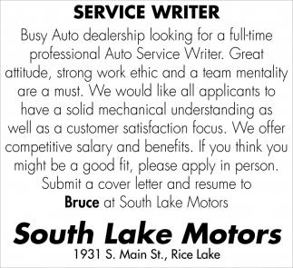 Service Writer