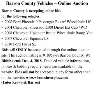 Vehicles - Online Auction