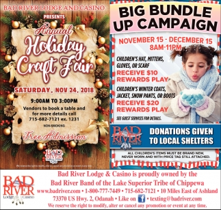 Annual Holiday Craft Fair/Big Bundle Up Campaign