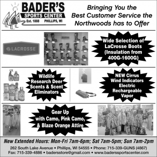 Bringing You the Best Customer Service the Northwoods has to Offer
