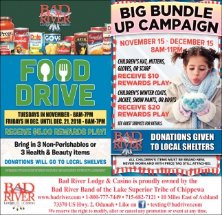 Food Drive/Big Bundle Up Campaign