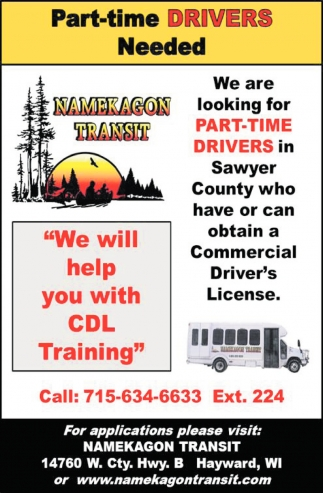 Part-Time Drivers Needed