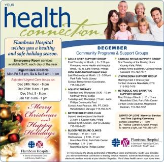 December Community Programs & Support Groups