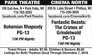 Bohemian Rhapsody/Fantastic Beasts: The Crimes of Grindelwald