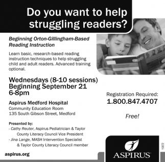 Do you want to help struggling readers?