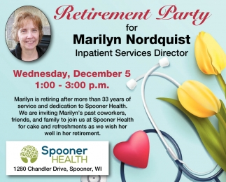 Retirement Party for Marilyn Nordquist