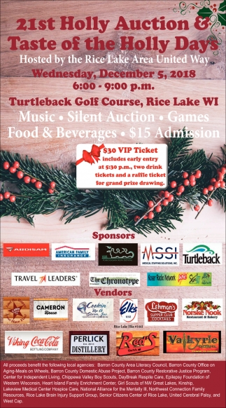 21st Holly Auction & Taste of the Holly Days