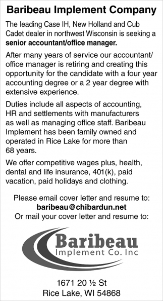Seeking a Senior Accountant/Office Manager