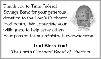 Thank you to Federal Savings Bank