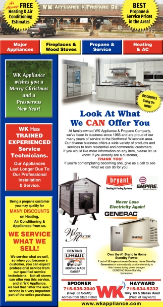 Look At What We Can Offer You