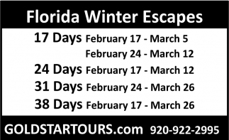 Florida Winter Escapes