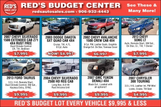 Red's Budget Center, Red's Auto Sale, Ironwood, MI