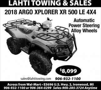 2018 ARGO Xplorer XR 500 LE 4x4