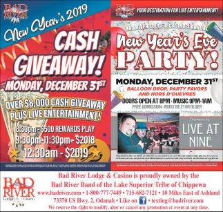 Cash Giveaway!/New Year's Eve Party