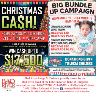 Christmas Cash/Big Bundle Up Campaign