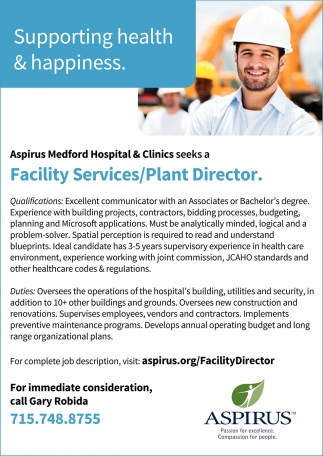 Facility Services/Plant Director