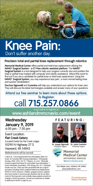 Knee Pain: Don't suffer another day! Free Seminar